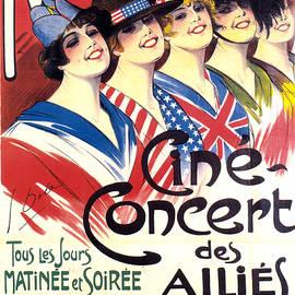 Studio Grafiikka - Novelty, Cine Concert Des Allies - Events - Vintage Advertising Poster