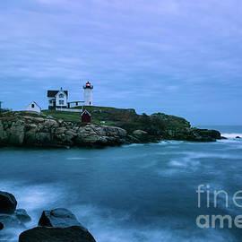 John Greim - Nubble Lighthouse Blue