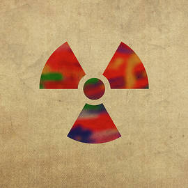 Nuclear Symbol in Watercolor - Design Turnpike