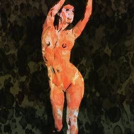 Nude 2 Pop Art by Mary Bassett - Mary Bassett