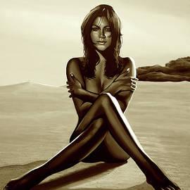Paul Meijering - Nude Beach Beauty Sepia
