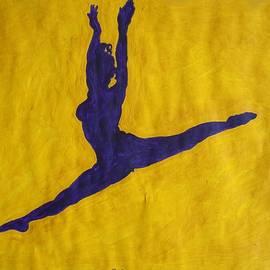 Stormm Bradshaw - Nude Ebony Ballerina Split Leap