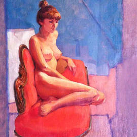 Roz McQuillan - Nude on Chaise Longue