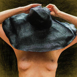 Nude with the big black hat by Mike Penney
