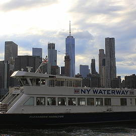 Dora Sofia Caputo Photographic Design and Fine Art - NYC Skyline - A View from the Pier at Brooklyn Bridge Park
