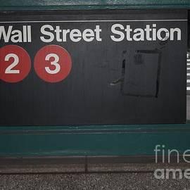 John Telfer - Nyc Wall Street Subway Entrance