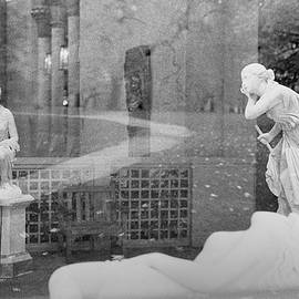 Nyc Whispering Statues by Dave Beckerman