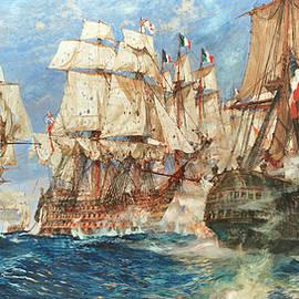 Charles Edward Dixon - Oak, Hemp, and Powder, Trafalgar, 1805