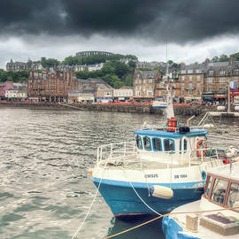 Ray Devlin - Oban Harbour under a dark sky