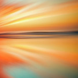 Ocean Beach Sunset Abstract by Gigi Ebert