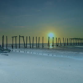 Ocean City Sunrise - 57th Street Pier Ruin by Bill Cannon
