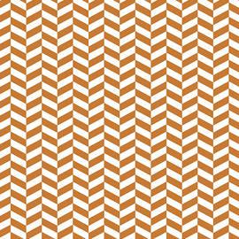 Ross - Ocher Orange Herringbone Design