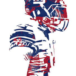 Odell Beckham Jr NEW YORK GIANTS PIXEL ART 4 - Joe Hamilton