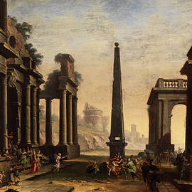 Odysseus pulls achill from the palace of Lykomedes  - Giovanni Paolo Panini