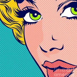 Close Up Girl by Pop Art World