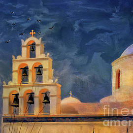 Lois Bryan - Oia Sunset Imagined