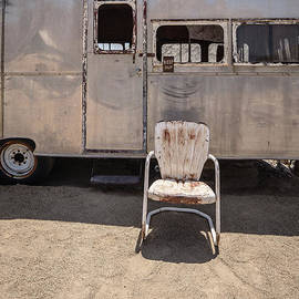 Old 1930 Silver Camping Trailer by Edward Fielding