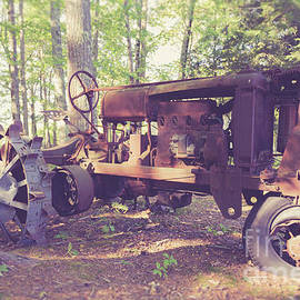 Edward Fielding - Old abandoned tractor in the woods