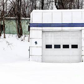 Old Art Deco Gas Station Woodstock Vermont by Edward Fielding
