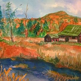 Ellen Levinson - Old Barn and Catskill Mountains