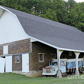 Old Barn and Dodge Truck by Steve Gass