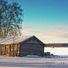 Jukka Heinovirta - Old Barn Bathing In The Winter Sun
