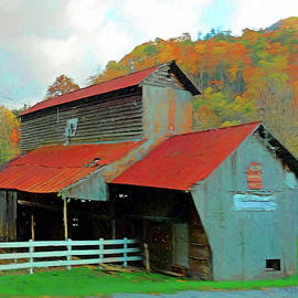 Rebecca Korpita - Old Barn in Autumn Wears Valley