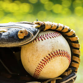 Old Baseball And Glove by Gary Silverstein