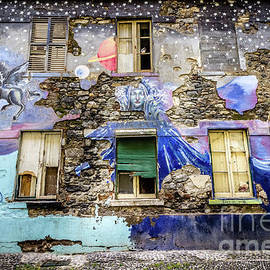 Old Building Mural in Funchal, Madeira, Portugal by Liesl Walsh