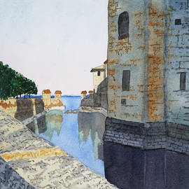Old City Walls of Sirmione, Lake Garda, Italy by Cynthia Schoeppel