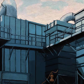 Linda Apple - Old Factory Blues painting