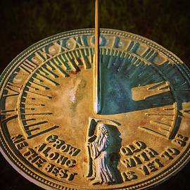 Old Father Time Sundial by Cynthia Guinn