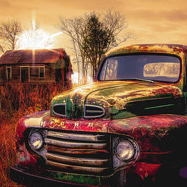 Debra and Dave Vanderlaan - Old Ford Pickup Truck in Sunset Golds