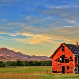 Robert Bales - Old Homestead With Squaw Butte