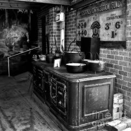 Kaye Menner - Old Iron Stove - Oven by Kaye Menner