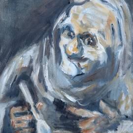 Christel Roelandt - Old Man eating, after Goya