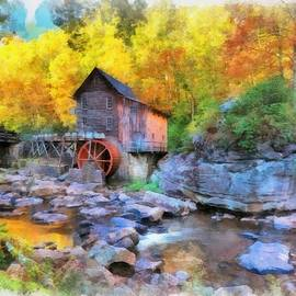 Old Mill Aquarelle by Maciek Froncisz