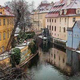 Old Mill. Little Prague Venice. March Snowfall by Jenny Rainbow