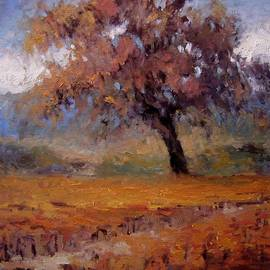 R W Goetting - Old oak tree in the vineyard