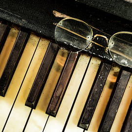 Old Piano Keyboard by Lindley Johnson