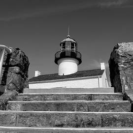Old Point Loma Lighthouse - From The Stairwell  by Glenn McCarthy Art and Photography