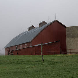 Alana Thrower - Old Red Barn on the Hill