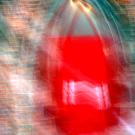 Old Red Door Abstract by Anthony Jones