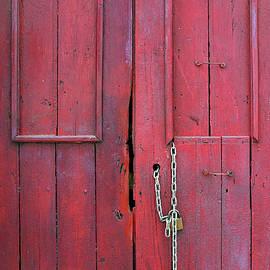 Carlos Caetano - Old Red Door Detail
