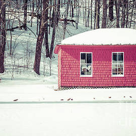 Old Red Shed in the snow - Edward Fielding