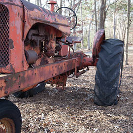 Old Red Tractor by Doug Camara