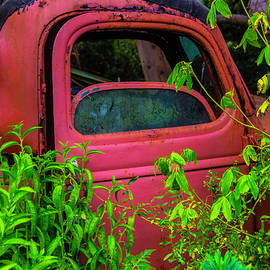 Old Red Truck In The Garden - Garry Gay