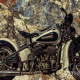 L Wright - Old Rusted Harley Davidson