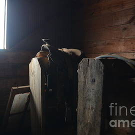 Audie T Photography - Old Saddle In The barn