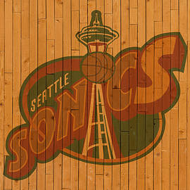 Old Seattle Supersonics Basketball Gym Floor - Design Turnpike